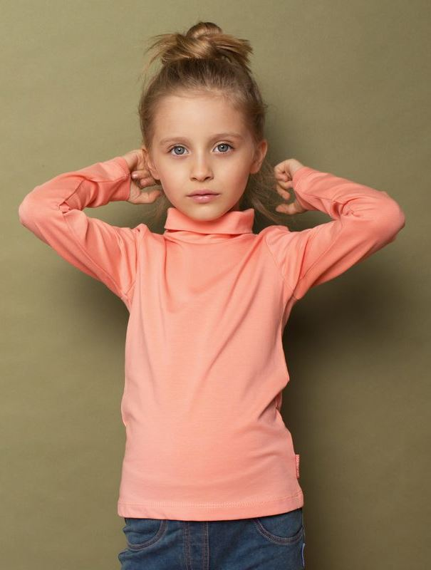 Водолазка Kogankids брюки для девочки kogankids цвет серый меланж 201 327 22 размер 98