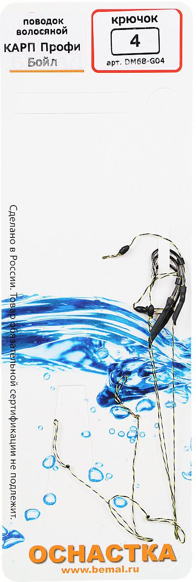 Поводок Deepriver Карп Профи Бойл, крючок №4, тест 7 кг, 3 шт цена