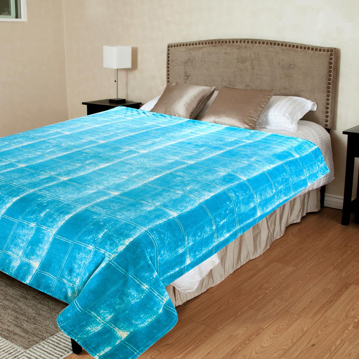 "Плед TexRepublic ""Джинса"", цвет: голубой, 180 х 210 см"
