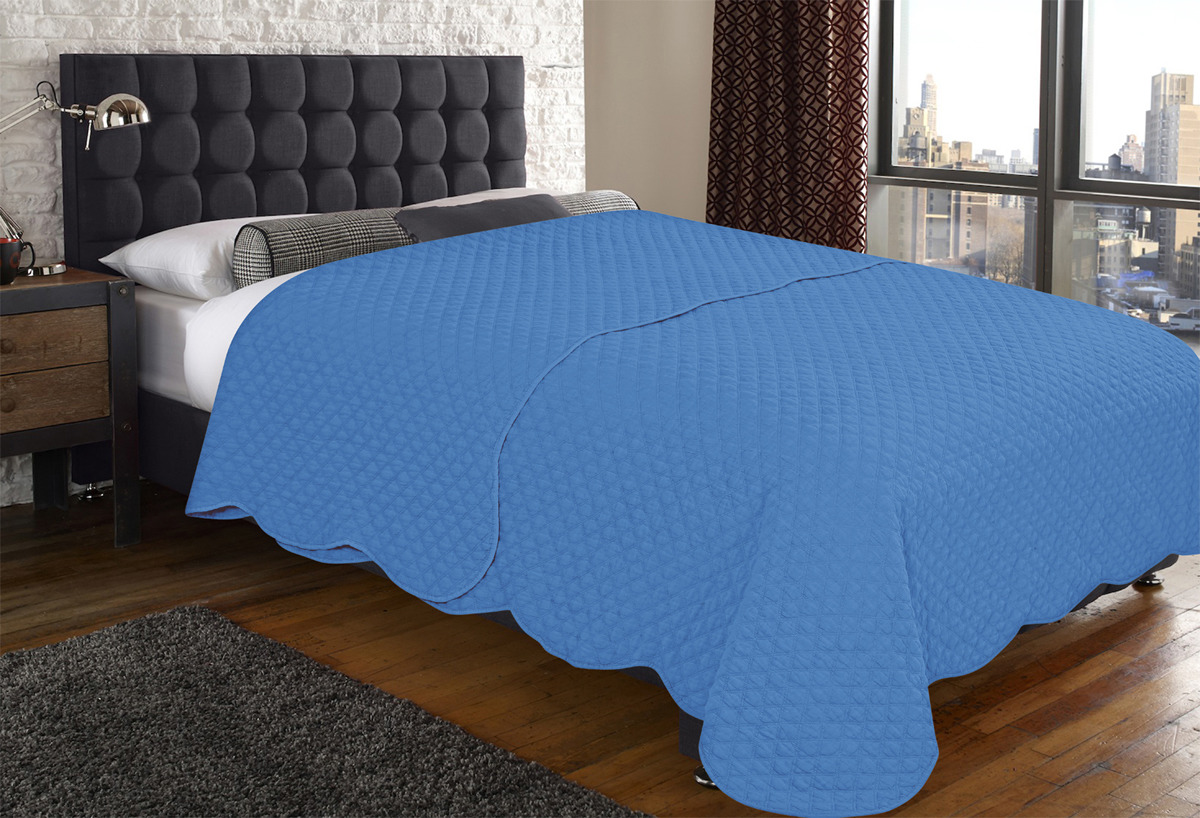 Покрывало Amore Mio Cell, цвет: синий, 160 х 220 см
