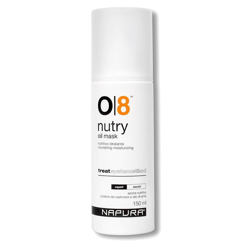 Масло для волос NAPURA O8 NUTRY (150ml) Питательная, увлажняющая масляная маска для сухих волос. Масло Амла 150ml