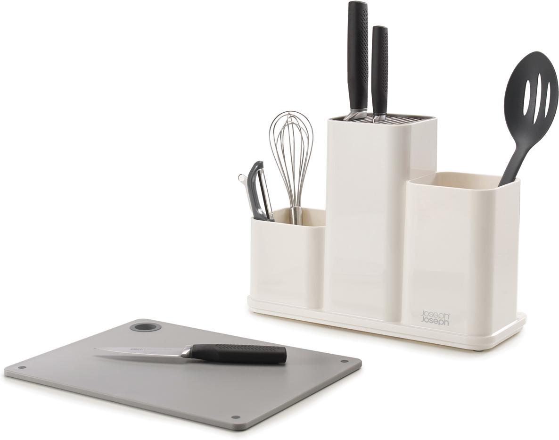 Кухонная подставка Joseph Joseph CounterStore, цвет: белый. 85121 подставка д ножей и стол приборов joseph joseph counterstore доска раздел пластик