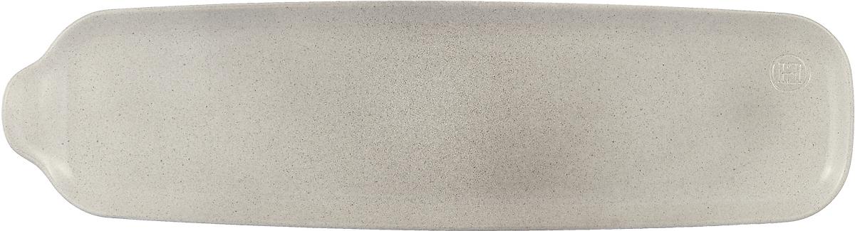 Блюдо Emile Henry Аперитив, длинное, цвет: серый набор блюд emile henry аперитив прямоугольные цвет серый 3 шт