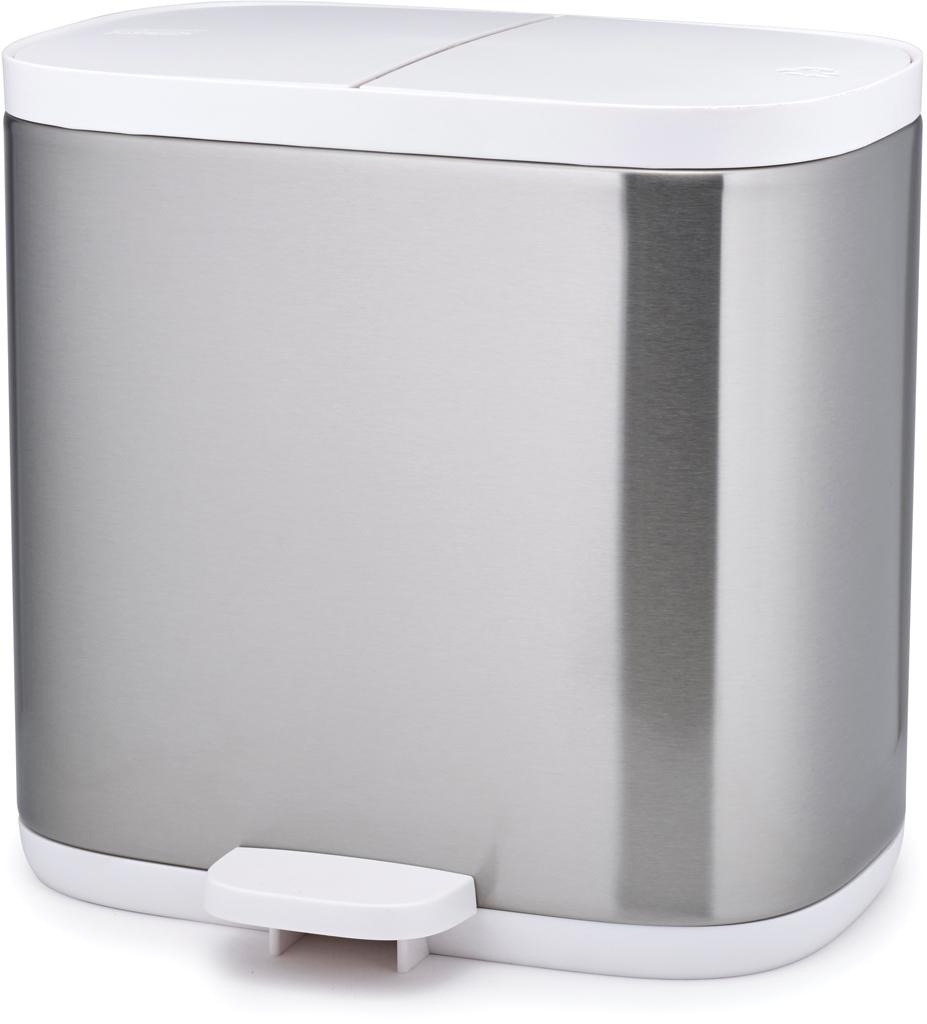 Контейнер для мусора Joseph Split, цвет: серый металлик, 6 л