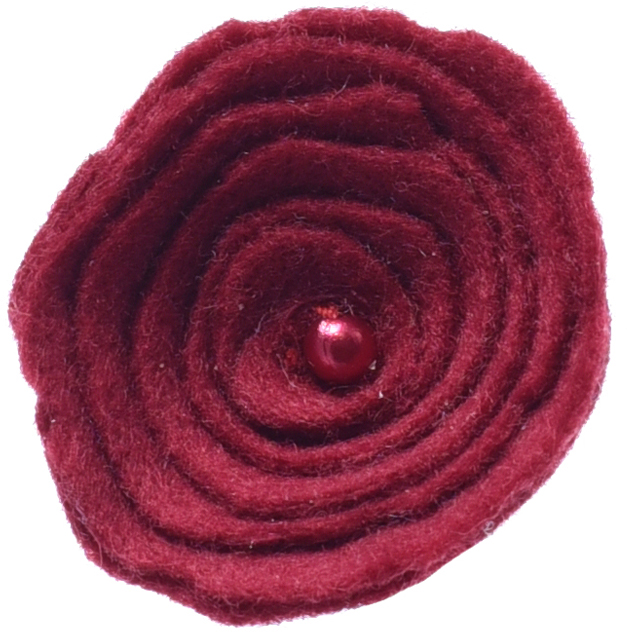цена на Резинка для волос Malina By Андерсен Fleur Petite, цвет: бордовый. 31804рм54
