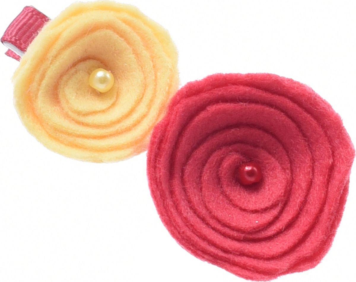 цена на Заколка для волос Malina By Андерсен Fleur Petite, цвет: коралловый. 31804тб50