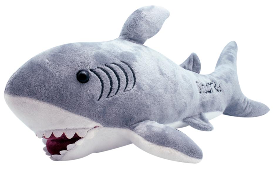 АБВГДЕЙКА Мягкая игрушка Акула Блад, 45 см, серый