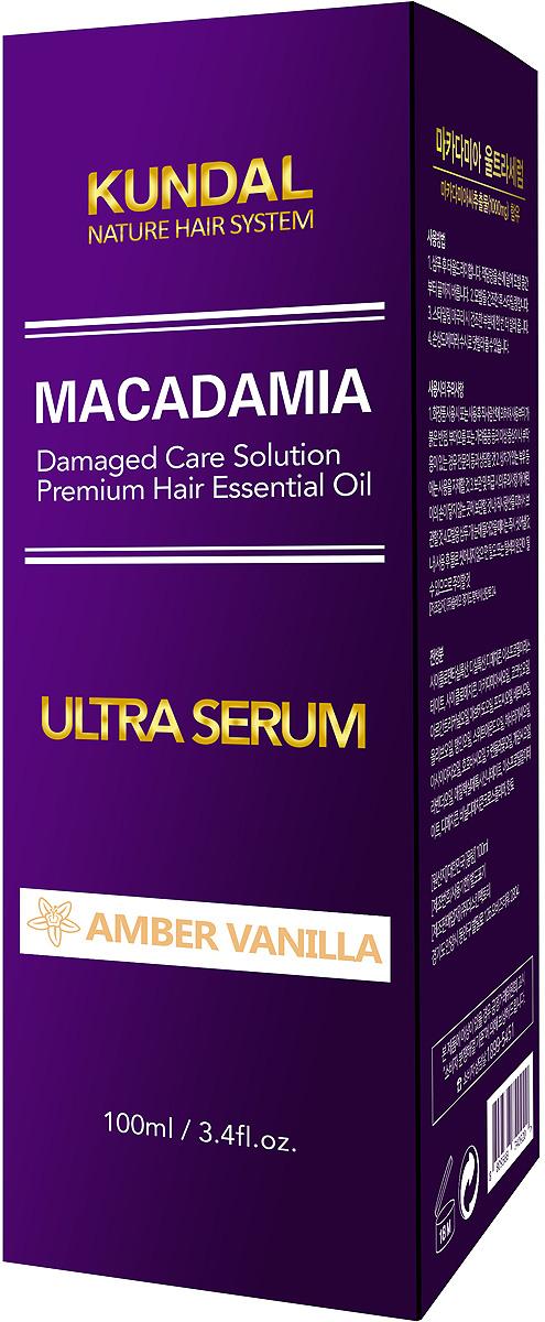 Сыворотка для волос Kundal Makadamia Ultra Serum Amber Vanilla, 500 мл джемпер makadamia makadamia ma167ewvex42