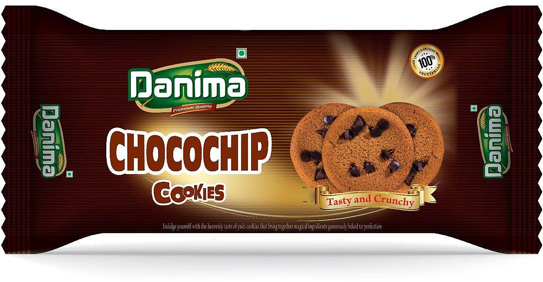 Индийское печенье с шоколадом Danima Чокочип, 50 г смесь для выпечки почти печенье матча шоколад кокос 370 г