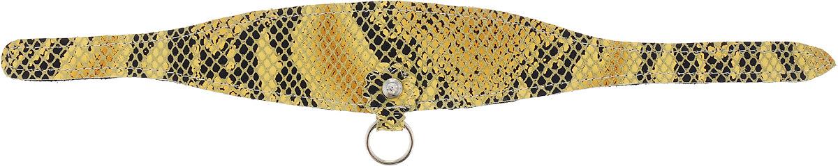 """Ошейник """"GLG"""", для собак, длина 21 см. COL38-S желтый, кожа"""