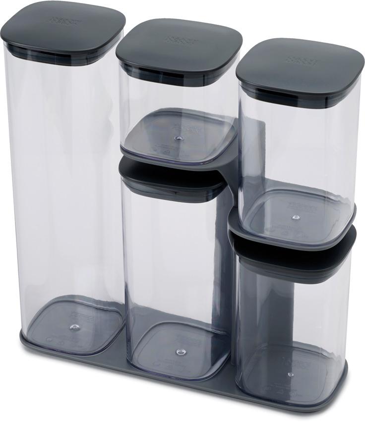 где купить Набор емкостей для хранения Joseph Joseph Podium, цвет: серый, 5 предметов по лучшей цене