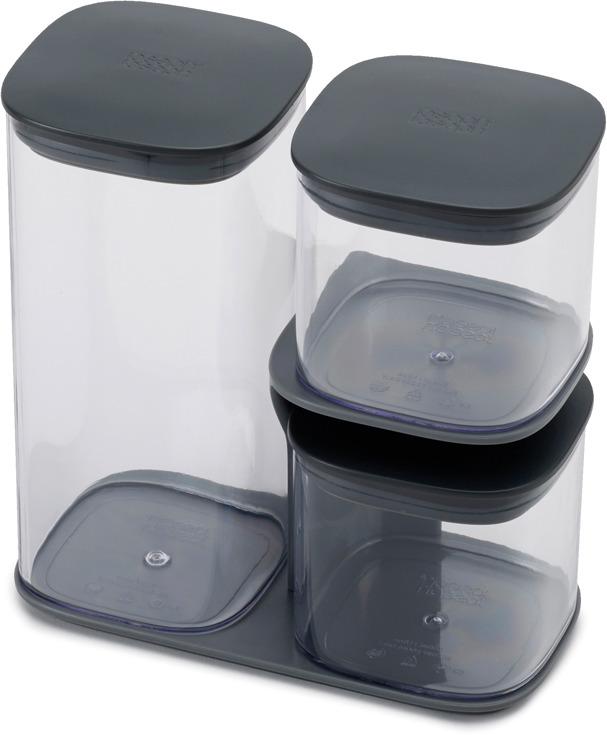где купить Набор емкостей для хранения Joseph Joseph Podium, цвет: серый, 3 предмета по лучшей цене