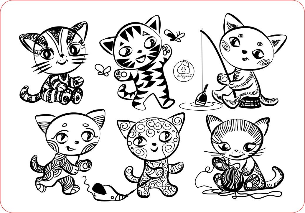 это маленькие картинки кошки рисунки качели украсят ваш