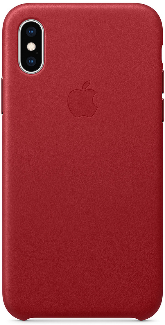 Чехол Apple Leather Case для iPhone XS, Red