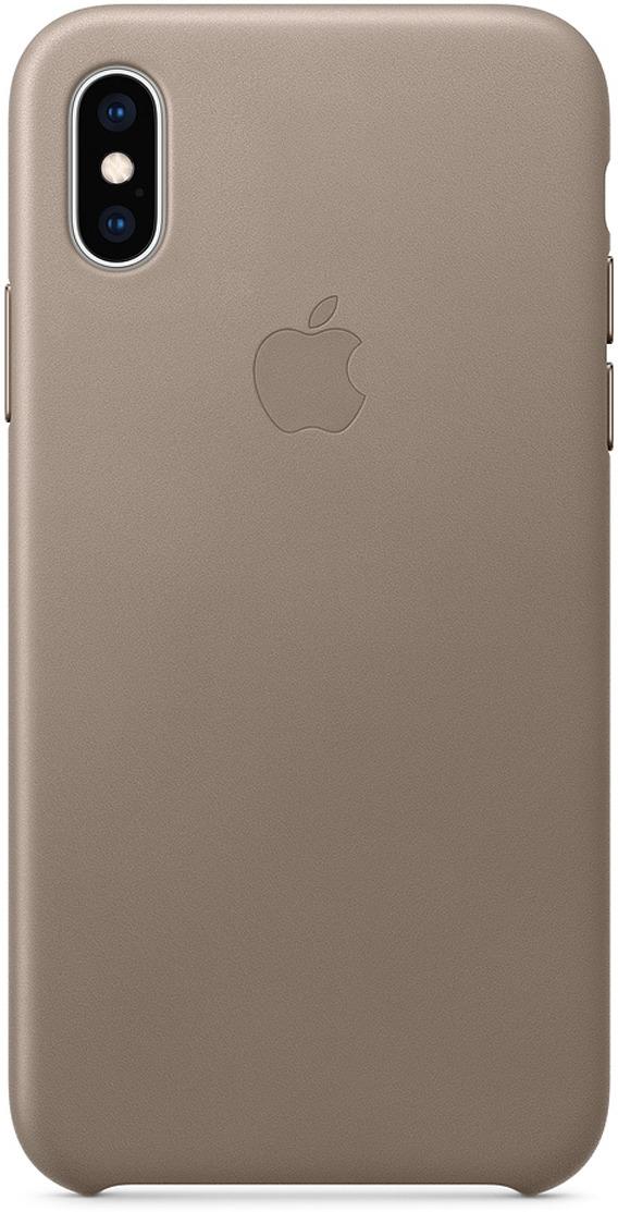Чехол Apple Leather Case для iPhone XS, Taupe чехол для apple iphone xs max leather case taupe