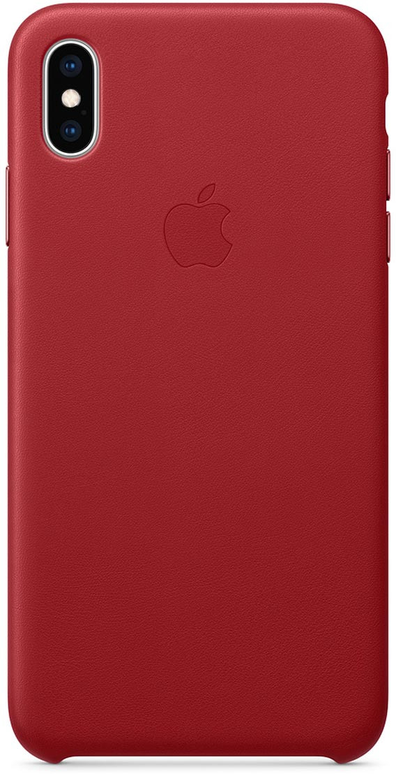 Чехол Apple Leather Case для iPhone XS Max, Red