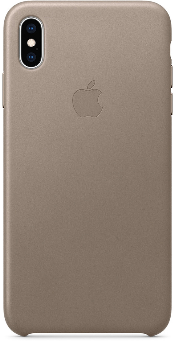 Чехол Apple Leather Case для iPhone XS Max, Taupe
