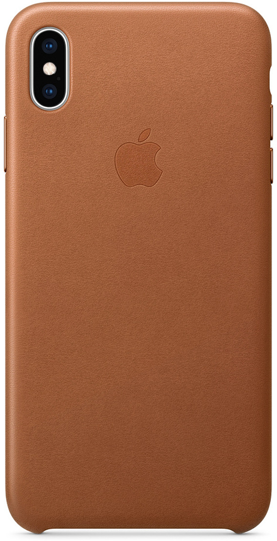 Чехол Apple Leather Case для iPhone XS Max, Saddle Brown цена и фото