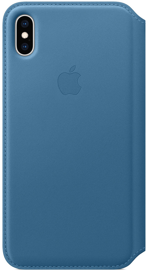 Чехол Apple Leather Folio для iPhone XS Max, Cape Cod Blue