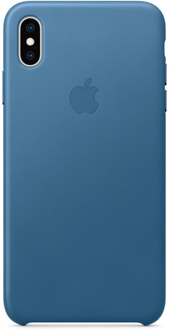 Чехол Apple Leather Case для iPhone XS Max, Cape Cod Blue аксессуар чехол apple iphone xs max leather folio cape cod blue mrx52zm a