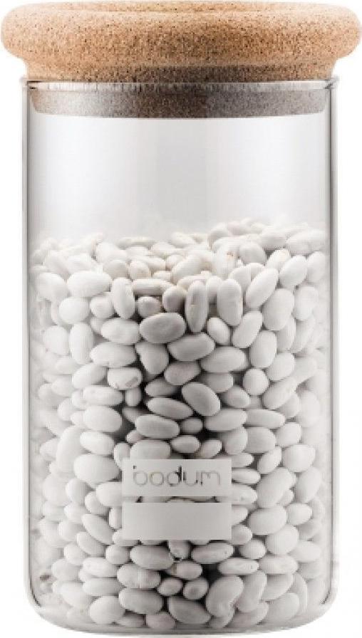 Банка для сыпучих продуктов Bodum Yohki, цвет: бежевый, 1 л