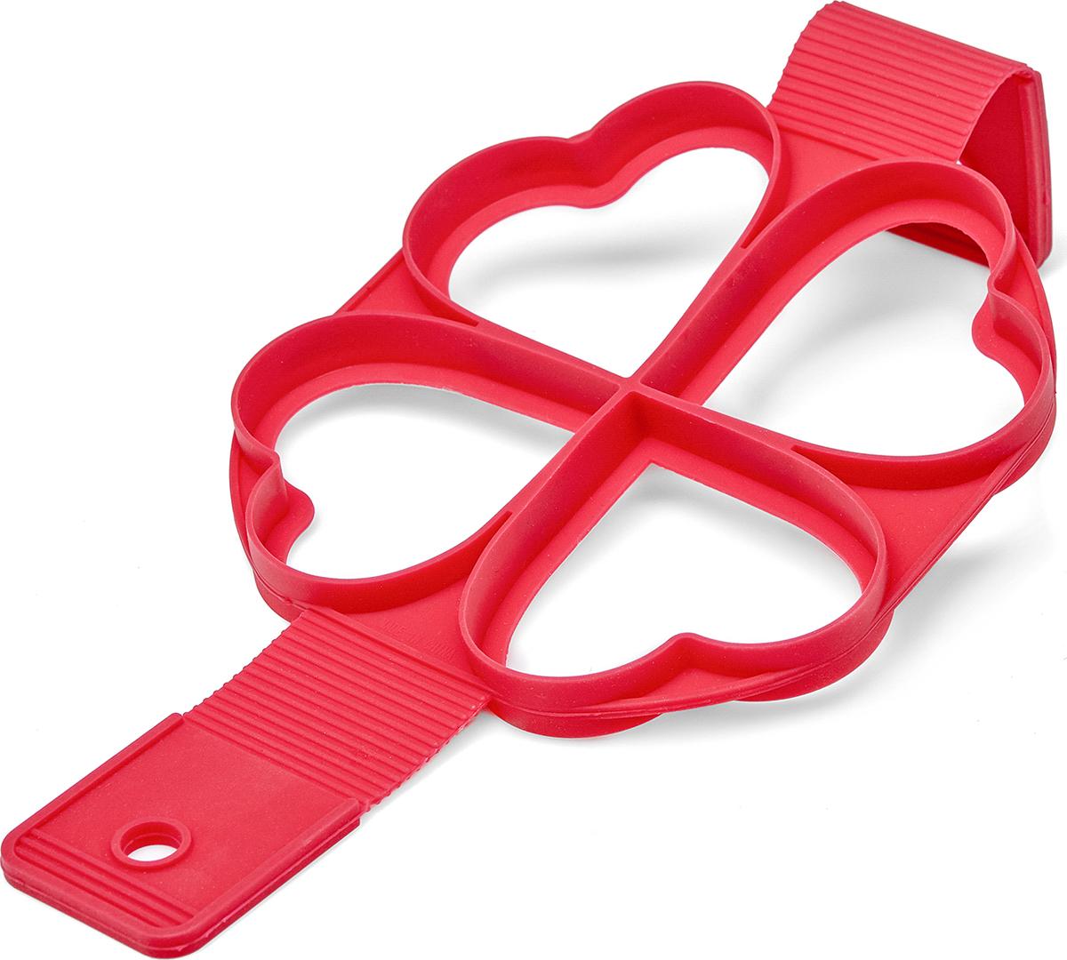 Форма для оладий Walmer Heart, цвет: красный, 34,5 x 16 cм hmily красный цвет вина 32cm x 28cm x 17cm