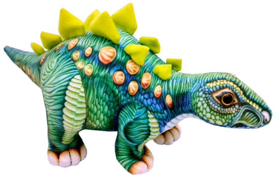 Мягкая игрушка АБВГДЕЙКА Динозавр Стегозавр, 38 см