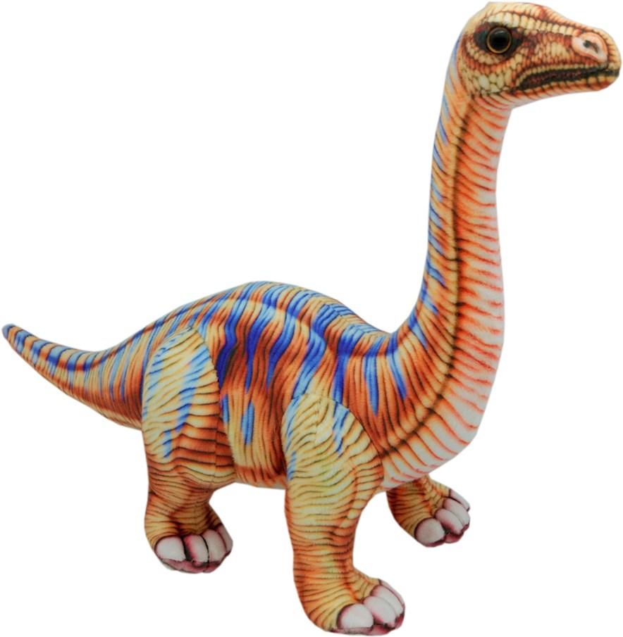 Мягкая игрушка АБВГДЕЙКА Динозавр Апатозавр коричневый