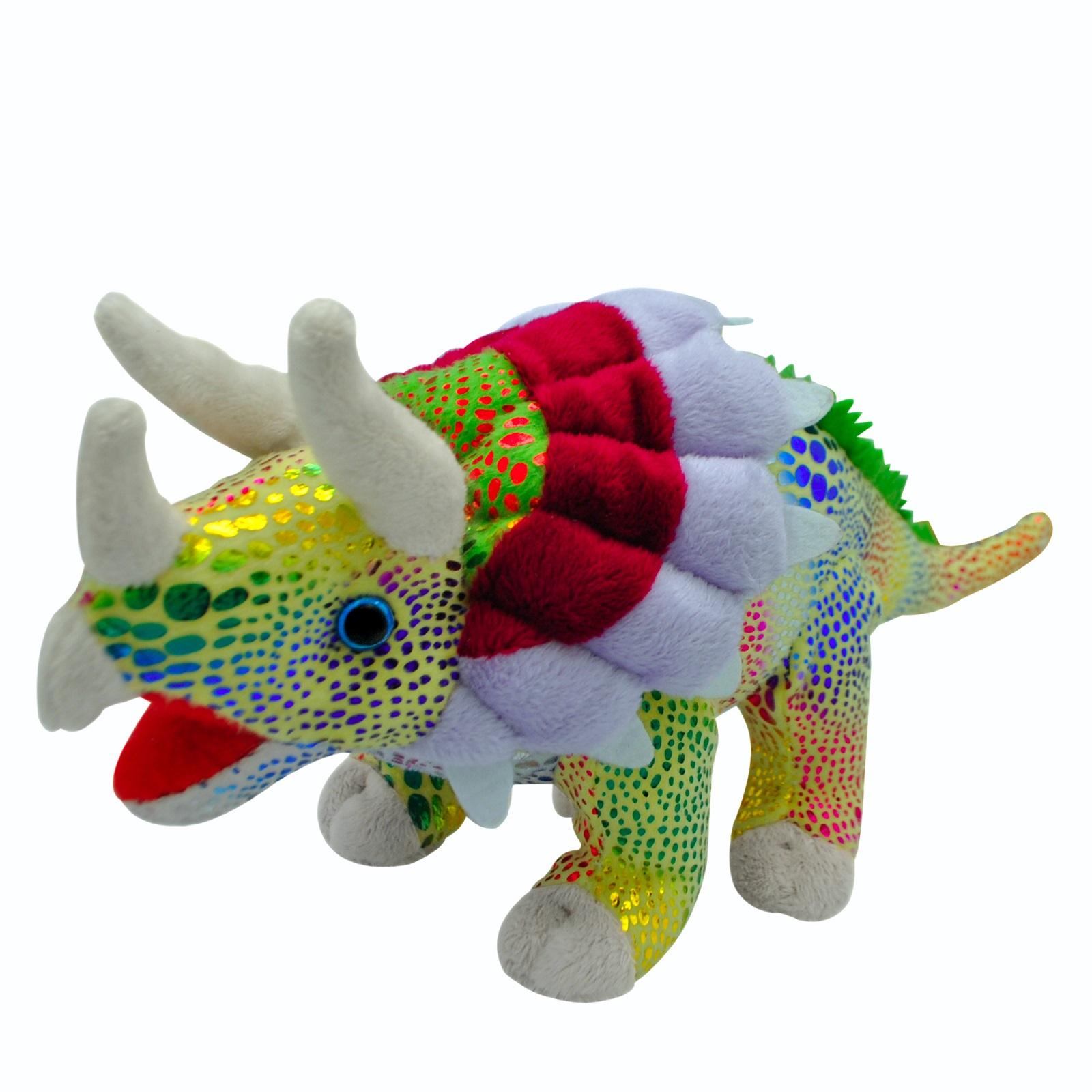 Мягкая игрушка АБВГДЕЙКА Динозавр зеленый