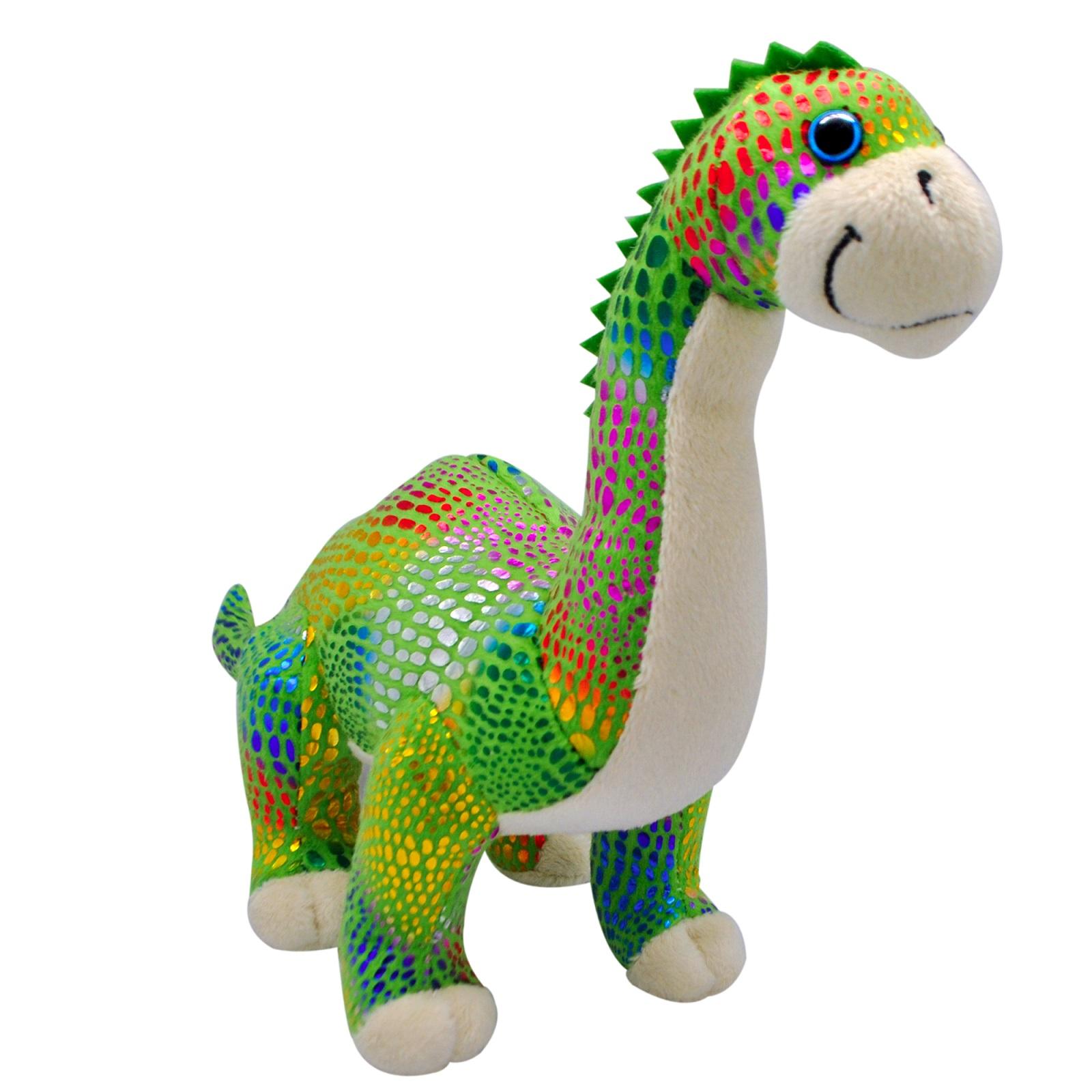 АБВГДЕЙКА Мягкая игрушка Динозавр Диплодок, 30 см, зеленый