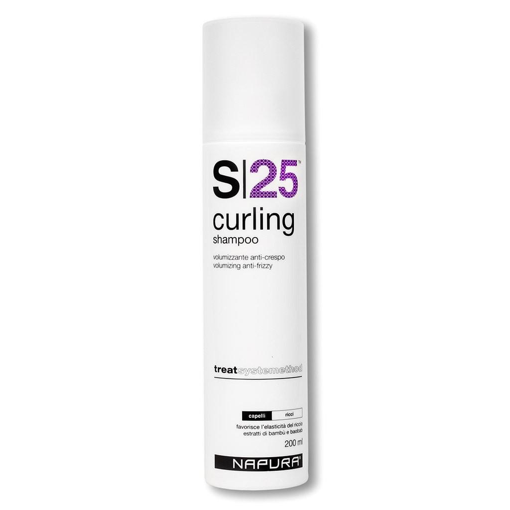 шампуни lorvenn шампунь для непослушных вьющихся и окрашенных волос frizz free 100мл Шампунь для волос NAPURA Шампунь для объема, для вьющихся волос, бессульфатный, профессиональный. S25 CURLING (200ml)