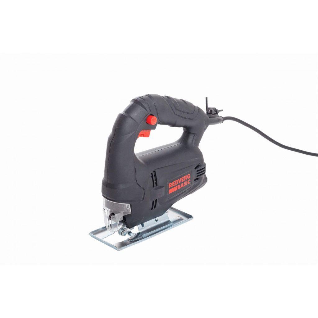 Лобзик RedVerg Basic JS450, 450 Вт, 3000 об/мин, цвет:черный инструмент redverg отзывы