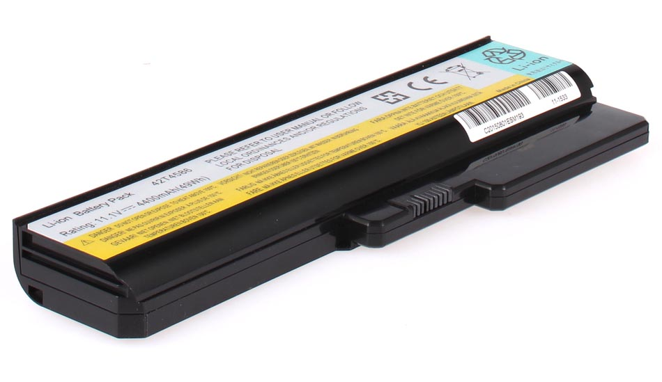 Аккумуляторная батарея AnyBatt 11-1533 4400 мАч. Совместима с IBM-Lenovo L08S6Y02, L08L6Y02, L08N6Y02, L08S6C02, 42T4727, L08O4C02, 42T4586, L08O6C02, 42T4585, 42T4728, L06L6Y02, 42T4725, 42T4729, 121000792, 121000793. free shipping hot selling in russia piwg2 la 6753p rev 1 0 laptop motherboard suitable for lenovo g570 notebook c