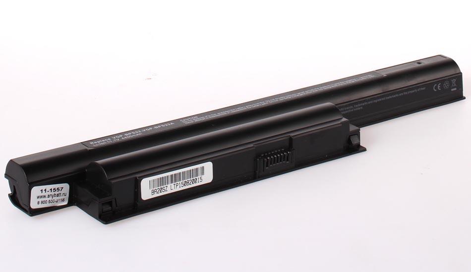 Аккумуляторная батарея AnyBatt 11-1557 4400 мАч. Совместима с Sony VGP-BPS22, VGP-BPS22A, CLD5223B.806, VGP-BPL22, CS-BPS22HB. ноутбук sony vaio eb1e1r