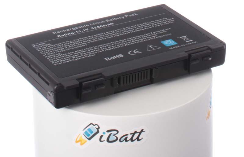Аккумуляторная батарея iBatt, iB-A145H, 5200 мАч аккумулятор asus a32 f82 for k40 k50 p50