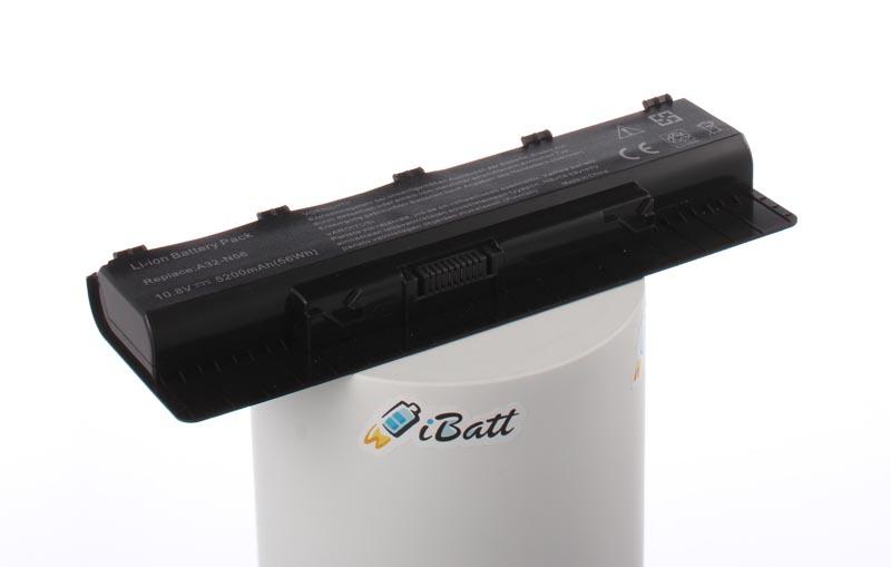 Аккумуляторная батарея iBatt iB-A413H 5200 мАч. Совместима с Asus A32-N56, A33-N56, A31-N56, A32-N46, CS-AUN56NB
