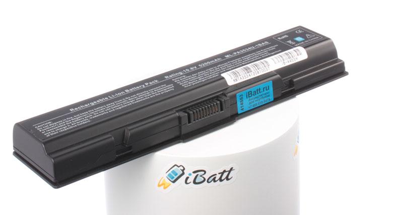 Аккумуляторная батарея iBatt iB-A455H 5200 мАч. Совместима с Toshiba PA3534U-1BRS, PABAS098, PA3533U-1BRS, PABAS174, PA3534U-1BAS, PA3535U-1BRS, PA3727U-1BRS, PA3682U-1BRS, CL4059B.806, PABAS097, CL4060B.806