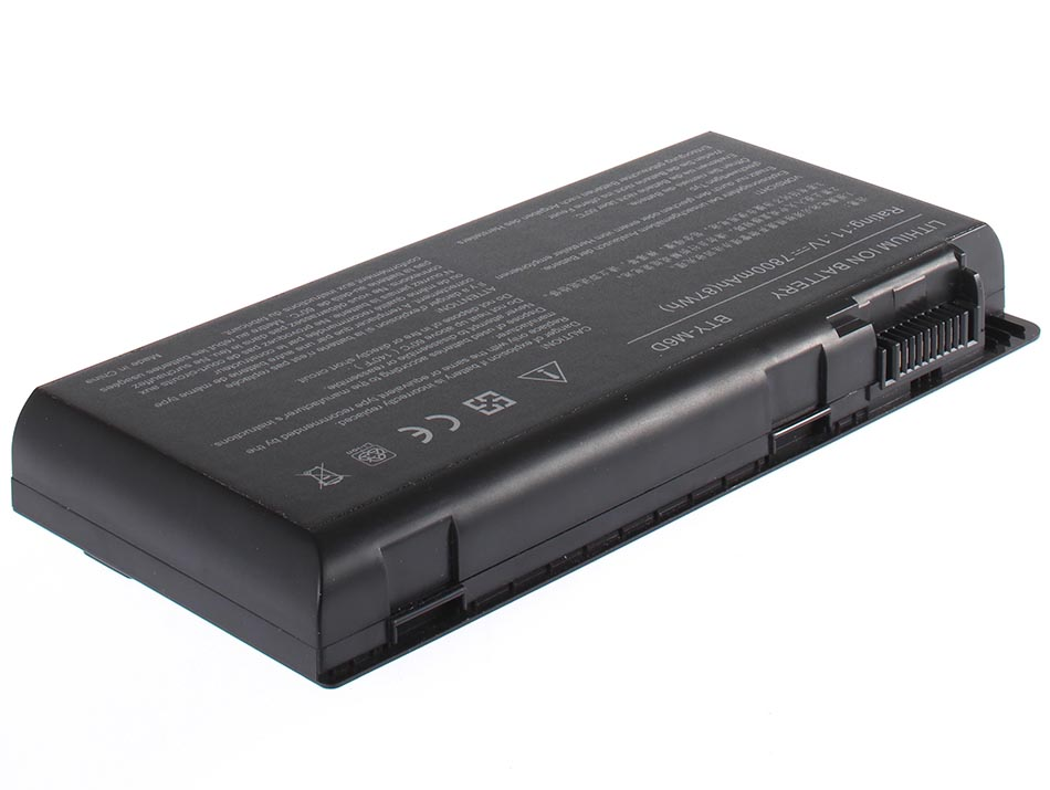 Аккумуляторная батарея iBatt iB-A456H 7800 мАч. Совместима с MSI BTY-M6D, CS-MSE660HB