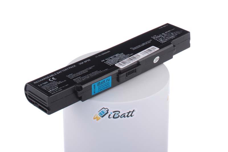 Аккумуляторная батарея iBatt iB-A575H 5200 мАч. Совместима с Sony VGP-BPS9, VGP-BPS9A, VGP-BPL9, VGP-BPS9B, CLD5138B.085, CLD5138S.806, CLD5139S.806, CLE5138S.806, VGP-BPS9A/S, VGP-BPS9/S, VGP-BPS9/B, VGP-BPS9A/B laptop battery for sony vaio pcg vgn ar vgn cr vgn nr vgn sz series pn vgp bps9 vgp bps9a b vgp bpl9 black