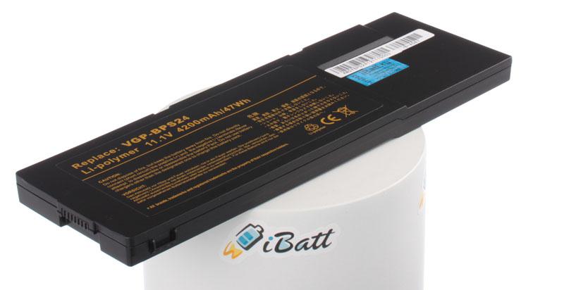 Аккумулятор для ноутбука iBatt iB-A587 аккумулятор topon top bps9 nocd 11 1v 5200mah для pn vgp bps9a b vgp bps9 b vgp bps9 s vgp bpl9 vgp bps10