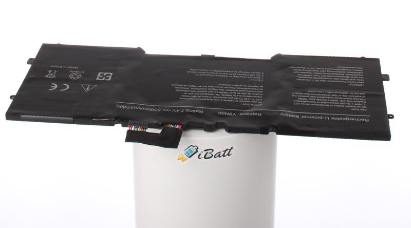 Аккумуляторная батарея iBatt iB-A744 6300 мАч. Совместима с Dell Y9N00, C4K9V, 489XN, WV7G0, PKH18, CS-DEX130NB, 77G21 аккумуляторная батарея ibatt ib a669 6800 мач совместима с asus c22 ux31 cs aux31nb