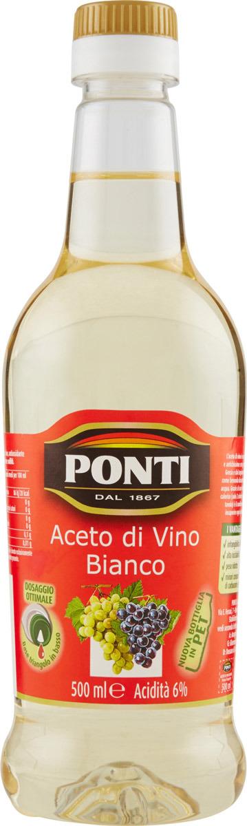Фото - Ponti уксус винный белый 6%, 500 мл рисовый уксус pearl river bridge белый 500 мл