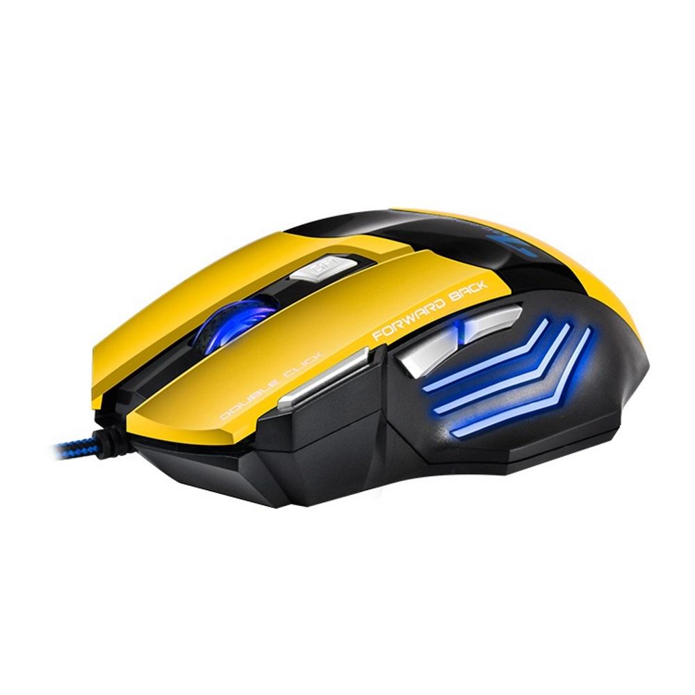 Игровая мышь IMICE X7, оптическая USB, цвет желтый мышь imice x9 w white