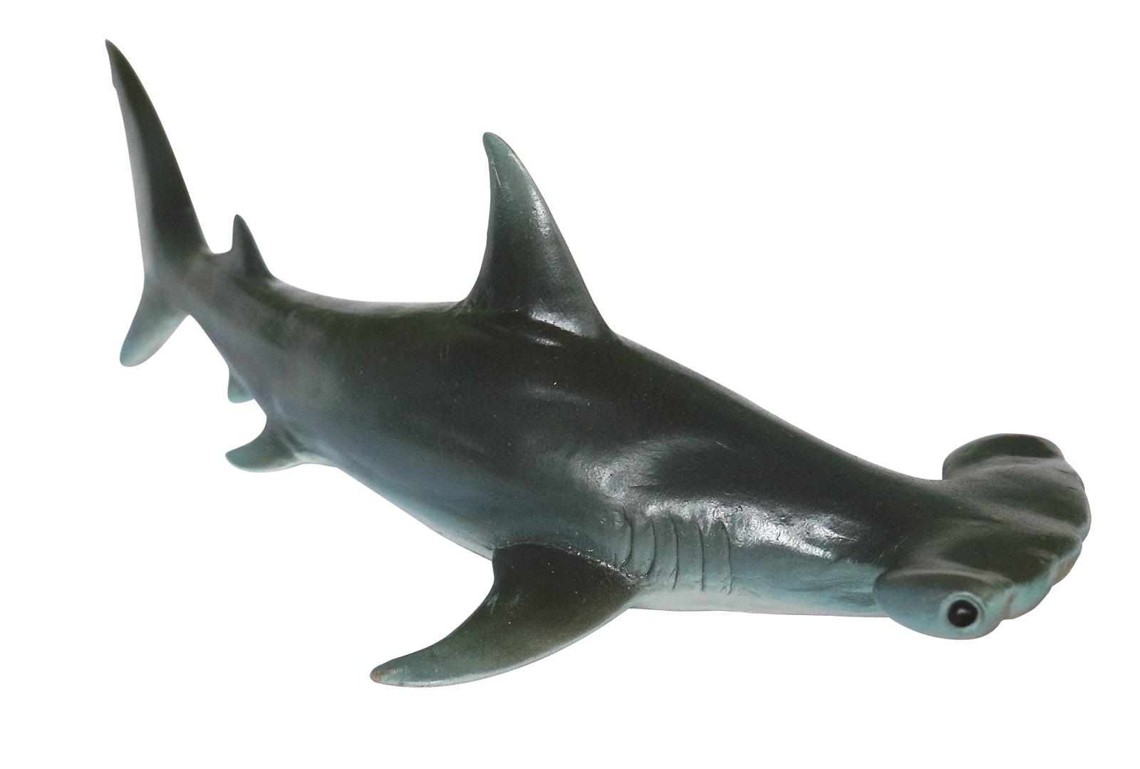 Фигурка АБВГДЕЙКА Акула молот ,27 см синий