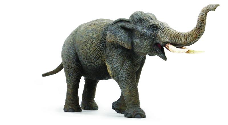 Фигурка АБВГДЕЙКА Слон, 30 см, фигурка с мягкой набивкой, PE1014