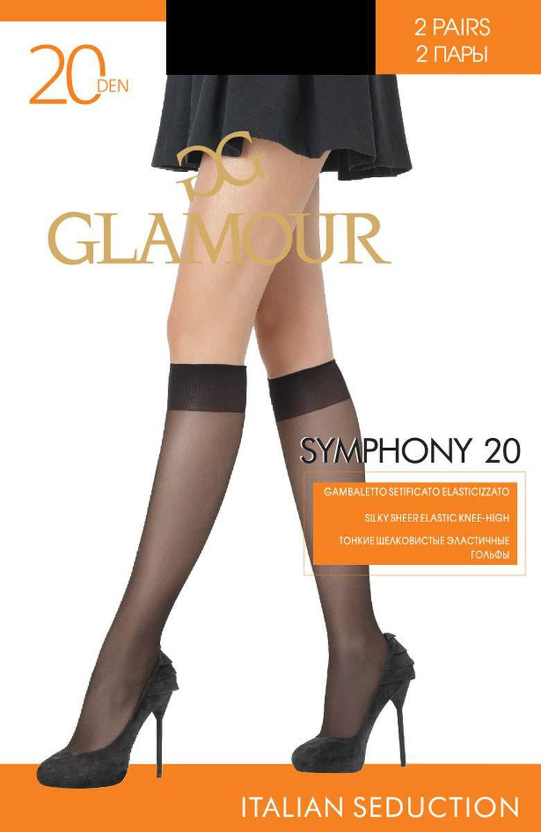 Комплект гольфов Glamour гольфы женские glamour daily 40 цвет miele телесный 2 пары 25812 размер универсальный