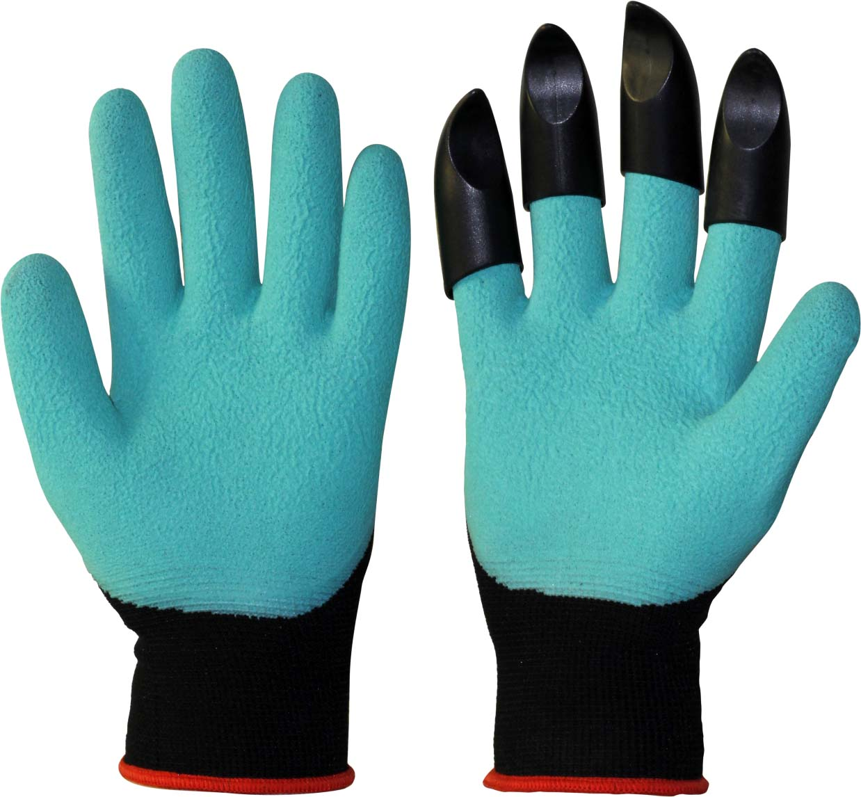 Перчатки защитные Boxer, садовые, с когтями, цвет: зеленый перчатки садовые с когтями garden genie glove