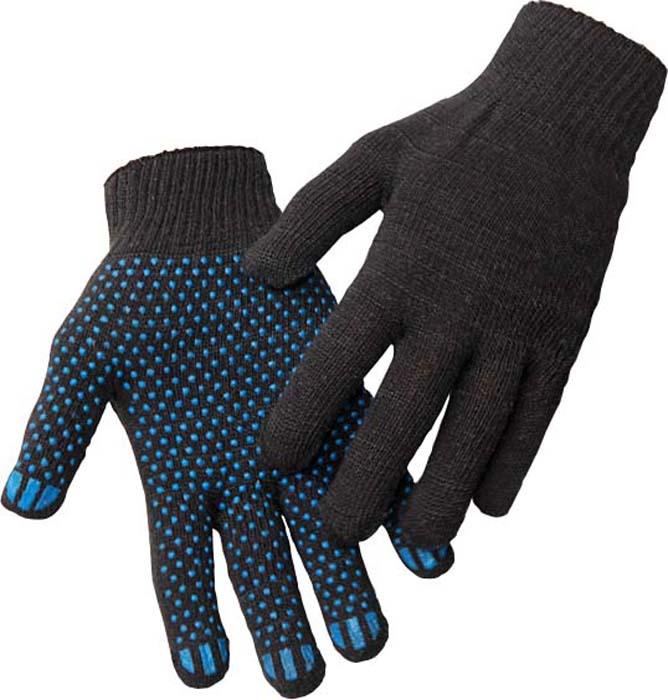 Перчатки защитные, с ПВХ, универсальные, цвет:  черный, 10 пар.  GL011620 Рекомендуем!. Изготовленыиз натуральной гипоаллергенной пряжи, хорошо...