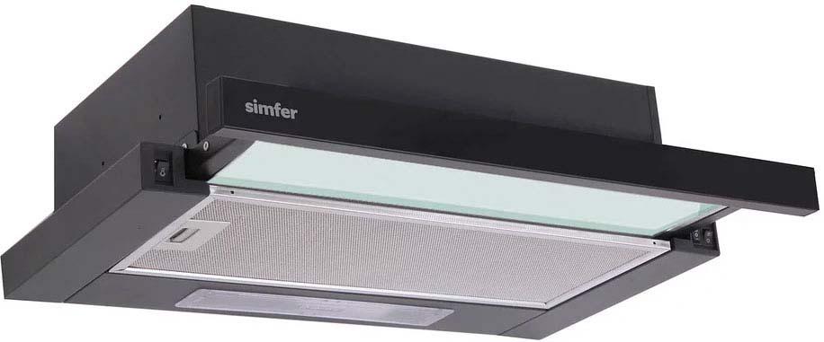 Вытяжка встраиваемая Simfer 7000, цвет: черный