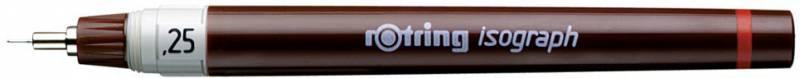 Изограф пластиковый Rotring съемный пишущий узел, заправка тушью, цвет: бордовый, 0.25мм